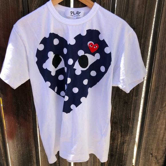 d8a6e17ea0c395 Comme des Garcons Other - Comme des Garcon Play polka dot heart tee